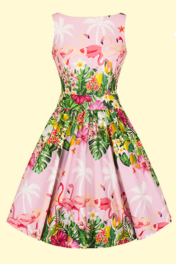 Flamingo Border Tea Dresses