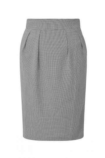 Pencil Skirt - Hounds Tooth