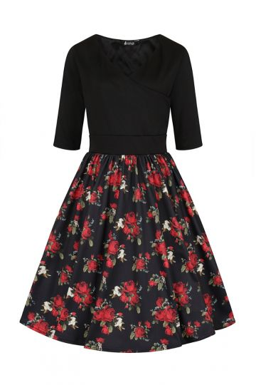 Layla Dress - Vintage Red Rose
