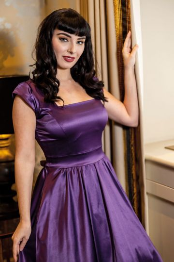 Swing Dress - Purple