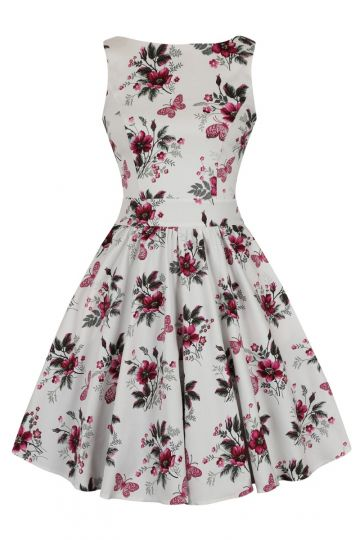 Tea Dress - Pearly Pink Butterflies