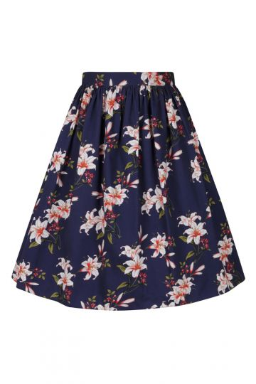Skirt - Navy Floral