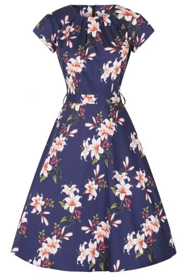 Day Dress - Navy Floral