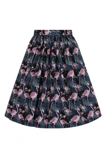 Skirt - Midnight Flamingo