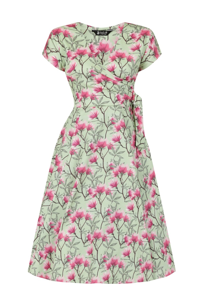 What Did Women Wear in the 1950s? 1950s Fashion Guide Lady V London Magnolia Sage £25.00 AT vintagedancer.com