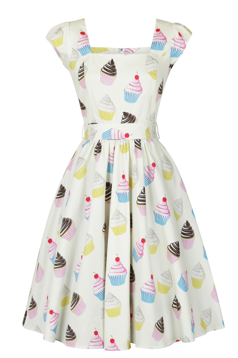 500 Vintage Style Dresses for Sale | Vintage Inspired Dresses Lady V London Swing Dress - Cupcake £38.00 AT vintagedancer.com