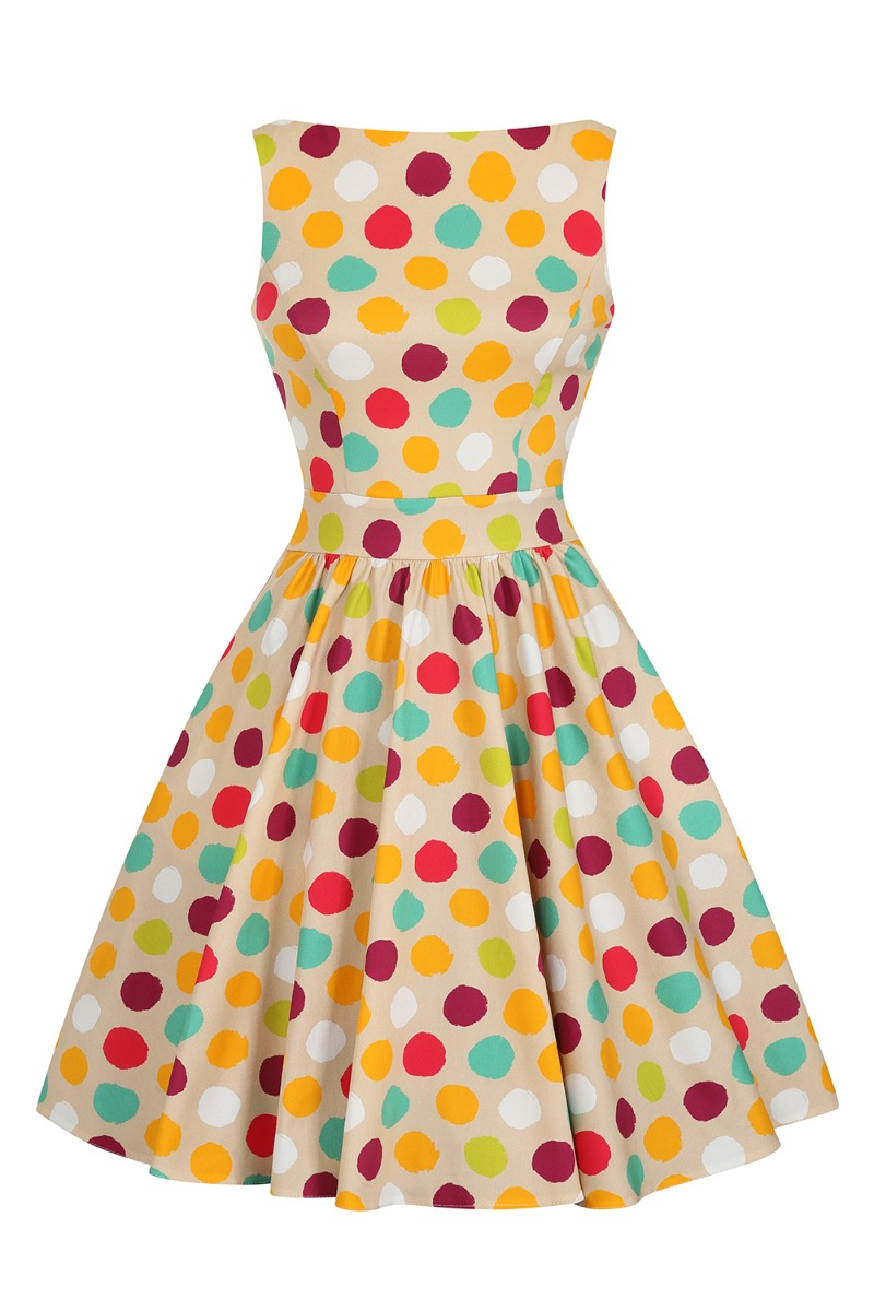 60s Dresses | 1960s Dresses Mod, Mini, Hippie Lady V London Polka Style £55.00 AT vintagedancer.com