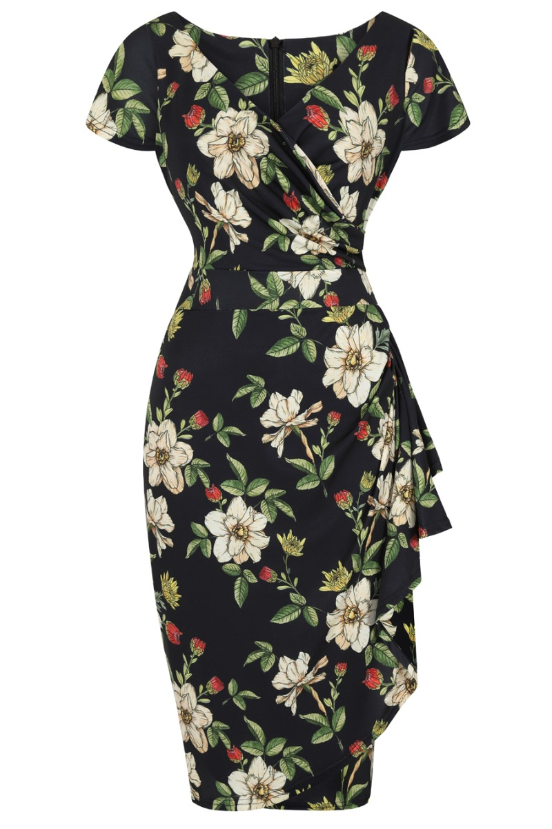Retro Tiki Dress – Tropical, Hawaiian Dresses Lady V London Elsie Dress - Autumn Floral £48.00 AT vintagedancer.com