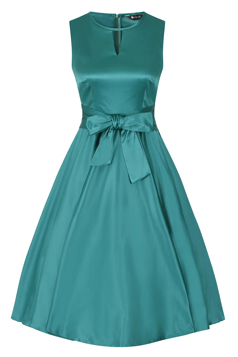 Vintage 50s Dresses: Best 1950s Dress Styles Lady V London Teal £15.00 AT vintagedancer.com
