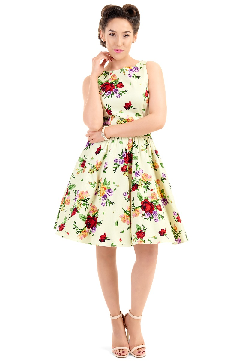What Did Women Wear in the 1950s? 1950s Fashion Guide Lady V London Classic Roses £35.00 AT vintagedancer.com