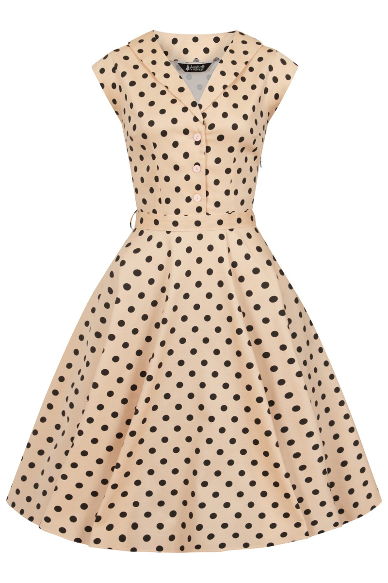 What Did Women Wear in the 1950s? 1950s Fashion Guide Lady V London Alsean Polka £42.00 AT vintagedancer.com